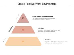 Create Positive Work Environment Ppt Powerpoint Presentation Styles Cpb