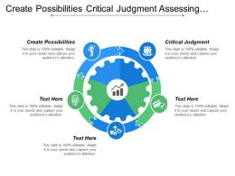 Create Possibilities Critical Judgment Assessing Information Best Solution