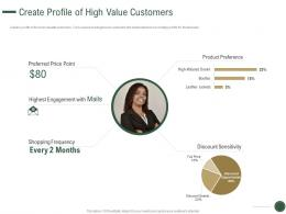 Create Profile Of High Value Customers How To Drive Revenue With Customer Journey Analytics Ppt Deck