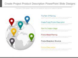 Create Project Product Description Powerpoint Slide Designs