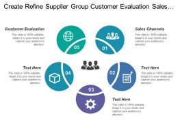 Create Refine Supplier Group Customer Evaluation Sales Channels
