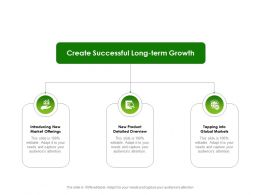 Create Successful Long Term Growth Ppt Powerpoint Presentation Styles Deck