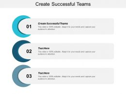 Create Successful Teams Ppt Powerpoint Presentation File Designs Download Cpb