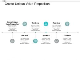 Create Unique Value Proposition Ppt Powerpoint Presentation Outfit Cpb