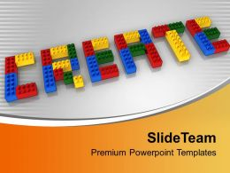 Create With Lego Blocks Realistic Business Concept Powerpoint Templates Ppt Themes And Graphics 0113