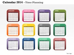 Create Your Business Year 2014 Calendar Template and Powerpoint Slide for Planning
