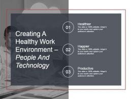 Creating A Healthy Work Environment People And Technology Ppt Slide