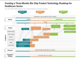Creating A Three Months Bio Chip Product Technology Roadmap For Healthcare Sector