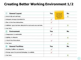 Creating Better Working Environment Management Ppt Powerpoint Presentation File Graphic Images
