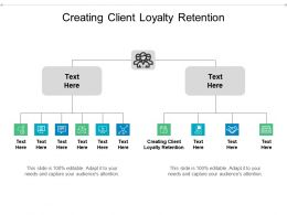Creating Client Loyalty Retention Ppt Powerpoint Presentation Layouts Infographics Cpb