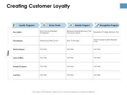 Creating Customer Loyalty Ppt Powerpoint Presentation Ideas Graphics Template