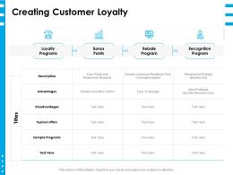 Creating Customer Loyalty Ppt Powerpoint Presentation Layouts Portfolio