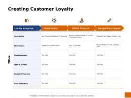 Creating Customer Loyalty Recognition Ppt Powerpoint Presentation Images