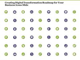 Creating Digital Transformation Roadmap For Your Business Icons Slide Ppt Demonstration