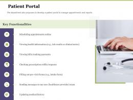 Creating Digital Transformation Roadmap For Your Business Patient Portal Ppt Graphics
