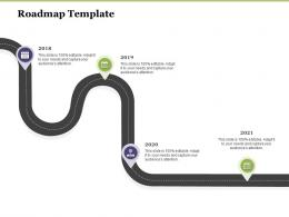 Creating Digital Transformation Roadmap For Your Business Roadmap Template Ppt Portrait