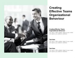 Creating Effective Teams Organizational Behaviour Ppt Powerpoint Gallery Styles Cpb