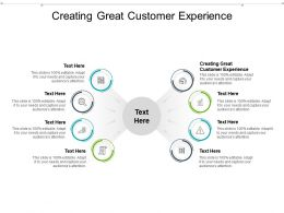 Creating Great Customer Experience Ppt Powerpoint Presentation Layouts Graphics Cpb