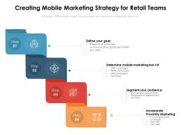 Creating Mobile Marketing Strategy For Retail Teams