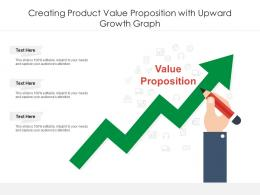 Creating Product Value Proposition With Upward Growth Graph