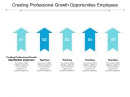 Creating Professional Growth Opportunities Employees Ppt Powerpoint Presentation Styles Backgrounds Cpb