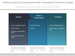 Creating Project Scope Management Plan Presentation Powerpoint Example