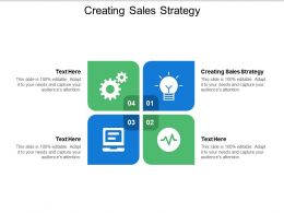 Creating Sales Strategy Ppt Powerpoint Presentation Ideas Outline Cpb