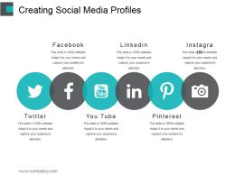 Creating Social Media Profiles Powerpoint Slide Background