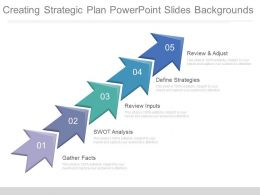 Creating Strategic Plan Powerpoint Slides Backgrounds