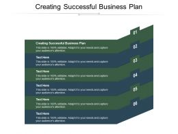 Creating Successful Business Plan Ppt Powerpoint Presentation Model Shapes Cpb