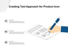 Creating Test Approach For Product Icon