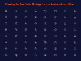 Creating The Best Sales Strategy For Your Business Icons Slide