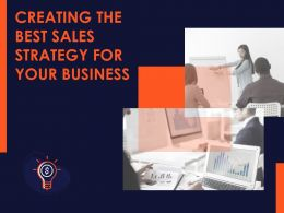 Creating The Best Sales Strategy For Your Business Powerpoint Presentation Slides