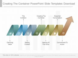 Creating The Container Powerpoint Slide Templates Download