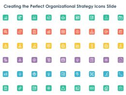 Creating The Perfect Organizational Strategy Icons Slide Ppt Powerpoint Presentation Gallery Visual Aids