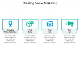 Creating Value Marketing Ppt Powerpoint Presentation Layouts Templates Cpb