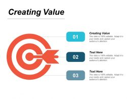 Creating Value Ppt Powerpoint Presentation Slides Shapes Cpb