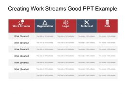 Creating Work Streams Good Ppt Example