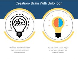 Creation Brain With Bulb Icon