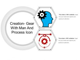 Creation Gear With Man And Process Icon