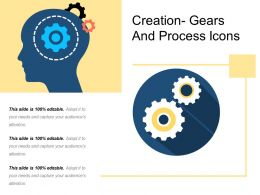 Creation Gears And Process Icons
