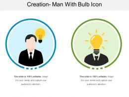 Creation Man With Bulb Icon