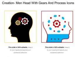 Creation Men Head With Gears And Process Icons
