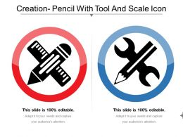 Creation Pencil With Tool And Scale Icon