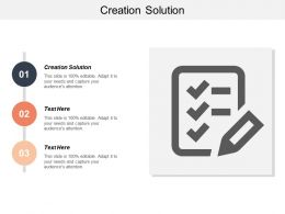 Creation Solution Ppt Powerpoint Presentation Gallery Graphics Cpb