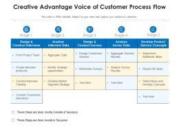 Creative Advantage Voice Of Customer Process Flow