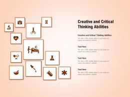 Creative And Critical Thinking Abilities Ppt Powerpoint Presentation Styles Information