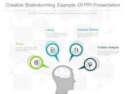 Creative Brainstorming Example Of Ppt Presentation