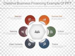 Creative Business Financing Example Of Ppt