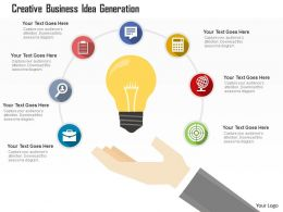 Creative Business Idea Generation Flat Powerpoint Design